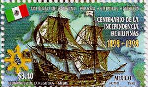 Philippine Mexico stamp